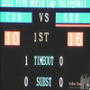 キューバvsセルビア 第1セット 2011ワールドカップバレー
